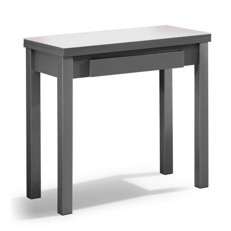 Mesa de cocina de cristal de libro extensible de 80 x 40 a - Mesa de cocina libro ...