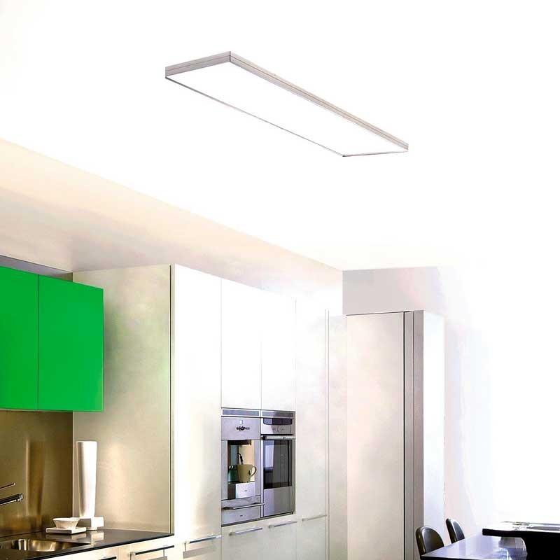 L mpara plaf n fluorescente en aluminio y blanco para cocina - Lampara fluorescente cocina ...