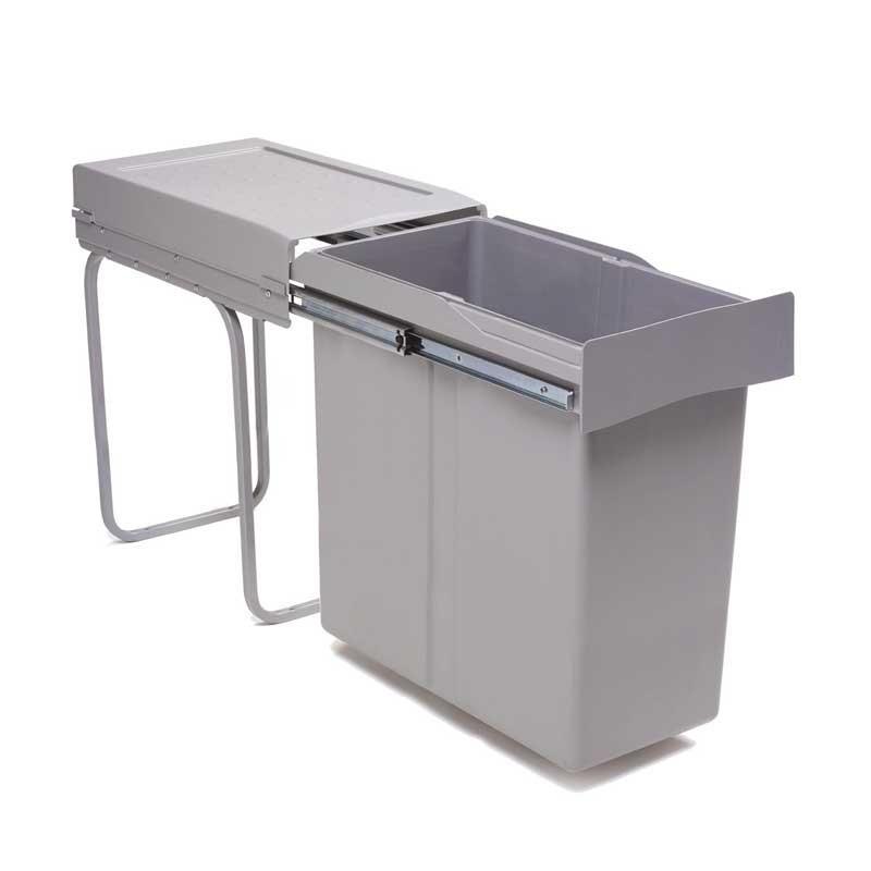 Cubo basura extraible 40 l para mueble cocina de 300 mm - Cubo basura extraible ...