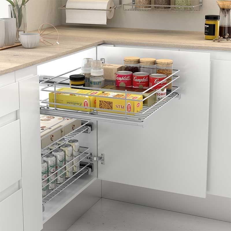 Mueble Para Cocina Despensero : Cesto despensero extraible de acero para cocina comprar
