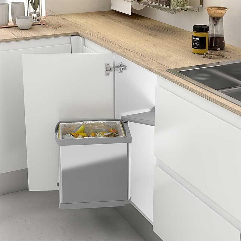 Cubo basura 21 l rectangular de acero inoxidable para cocina - Cubo basura cocina ...