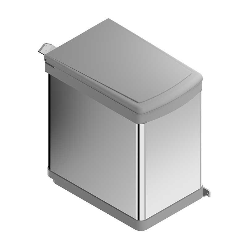 Cubo basura 21 l rectangular de acero inoxidable para cocina for Cubo basura cocina