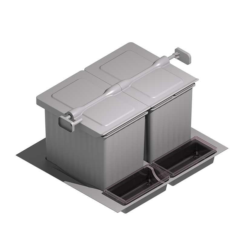 Cubo de basura integrado para caj n de cocina 600 900 mm - Cubos basura cocina ...