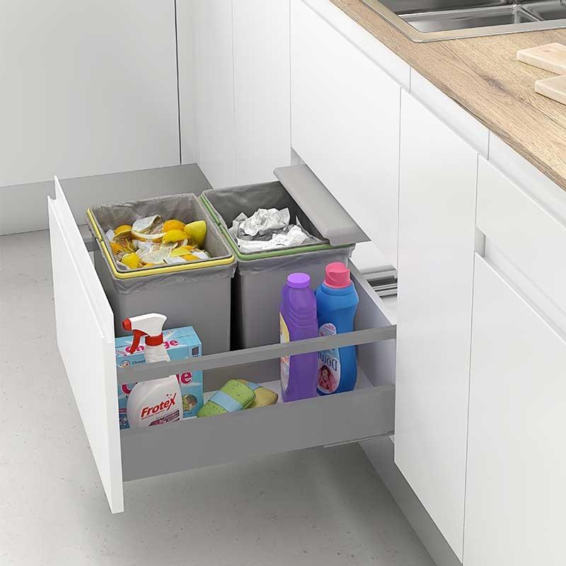 Cubo de basura integrado para caj n de cocina 450 mm - Cubos basura cocina ...