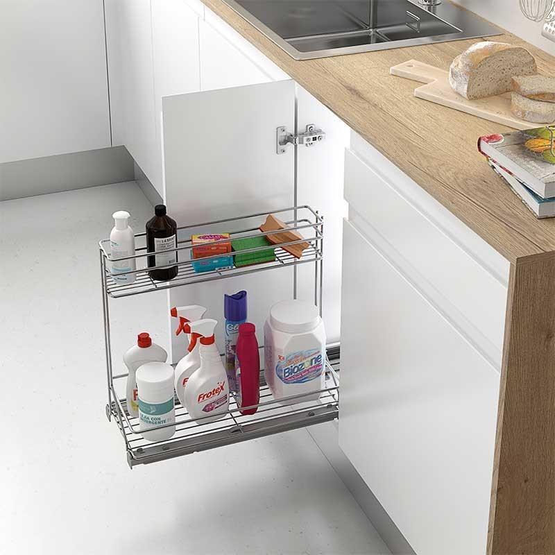 Extraible de acero para accesorios de limpieza en cocina for Productos para cocina