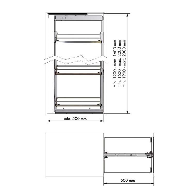 Kit bastidor columna extra ble compact para mueble de cocina for Mueble columna cocina