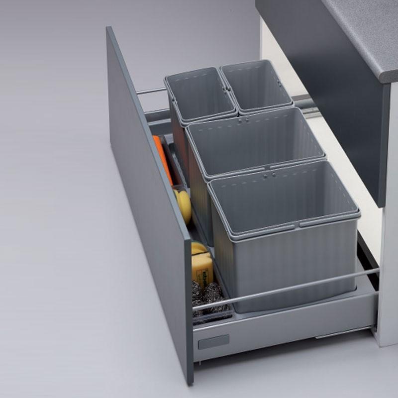 Cubo de basura integrado para caj n de cocina 600 900 mm for Cubo basura cocina