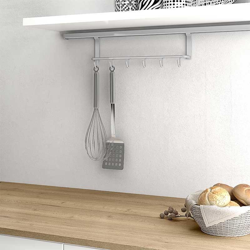 Soporte colgador de utensilios para cocina for Soporte utensilios cocina
