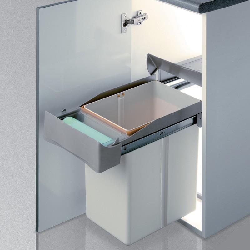 Cubo de basura 21 l rectangular de polipropileno para cocina for Cubo basura leroy merlin