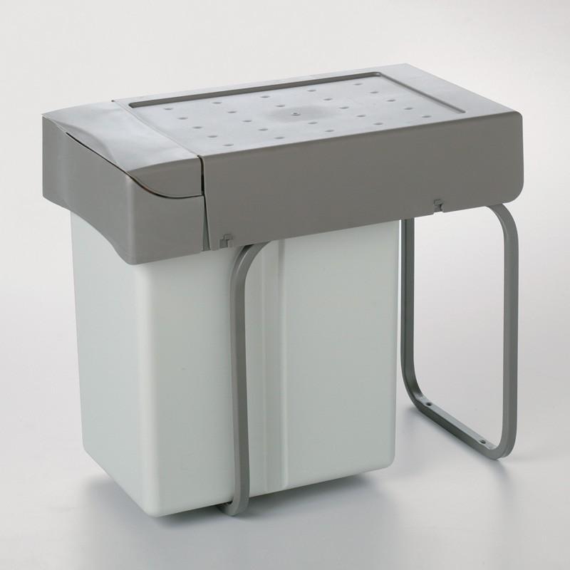 Cubo de basura 21 l rectangular de polipropileno para cocina - Cubo basura puerta ...