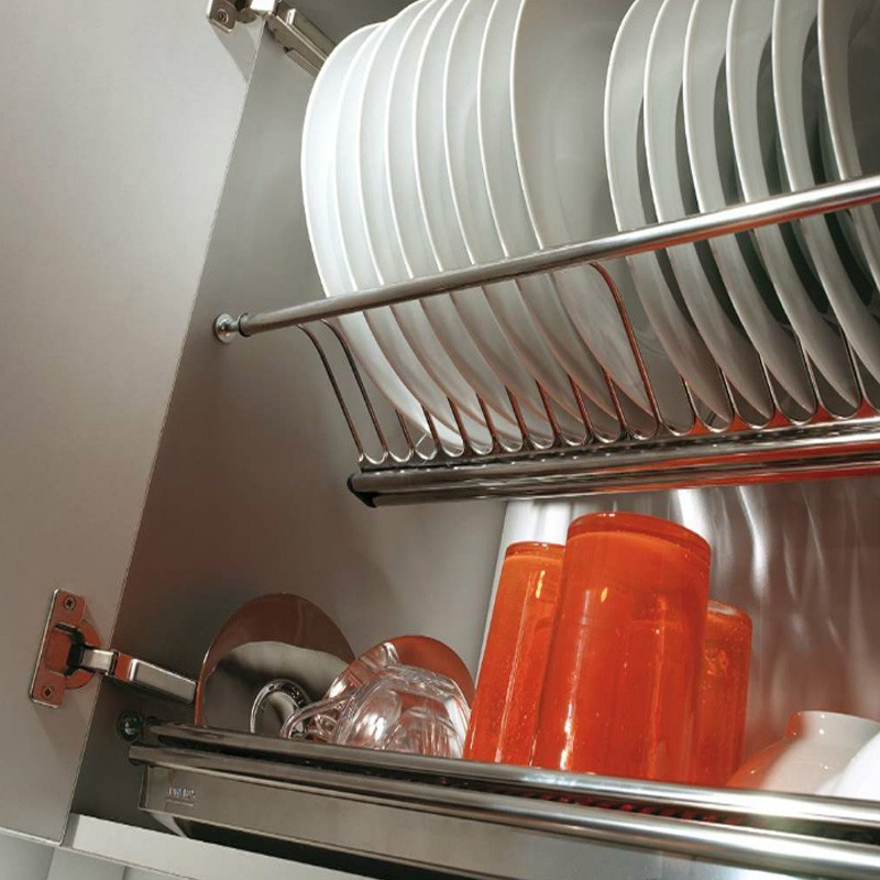 Platera escurreplatos de acero inoxidable para cocina for Cocinas 70 cm ancho argentina