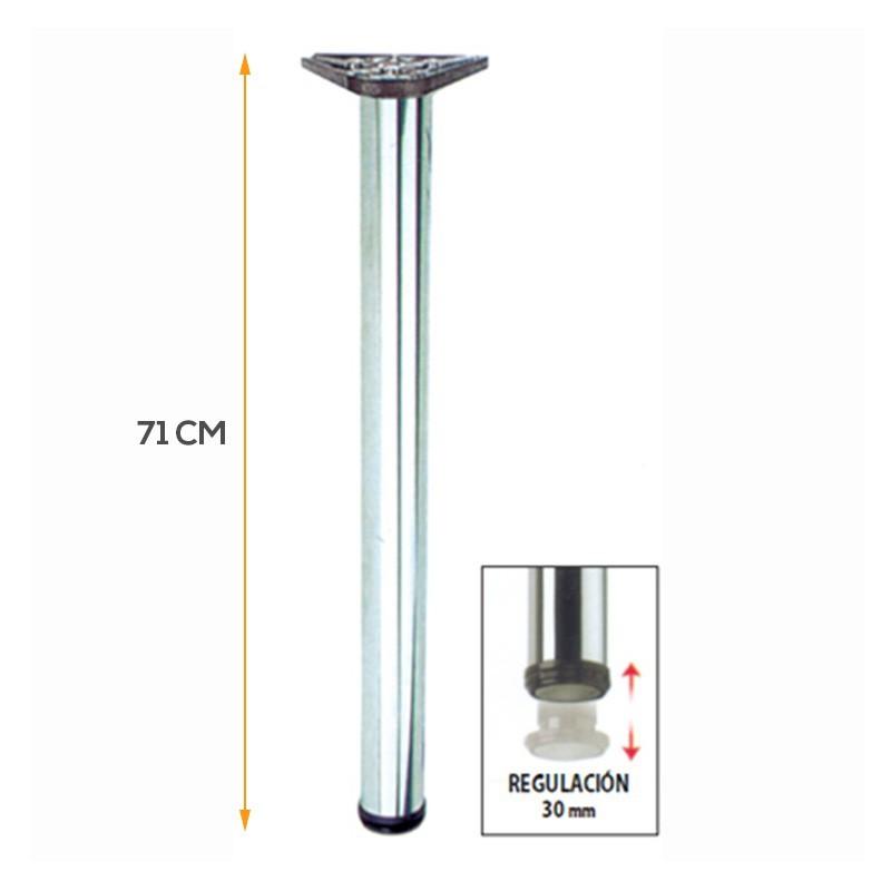 Pata tubular de 71 cm para mesa auxiliar o barra de cocina for Barra auxiliar para cocina