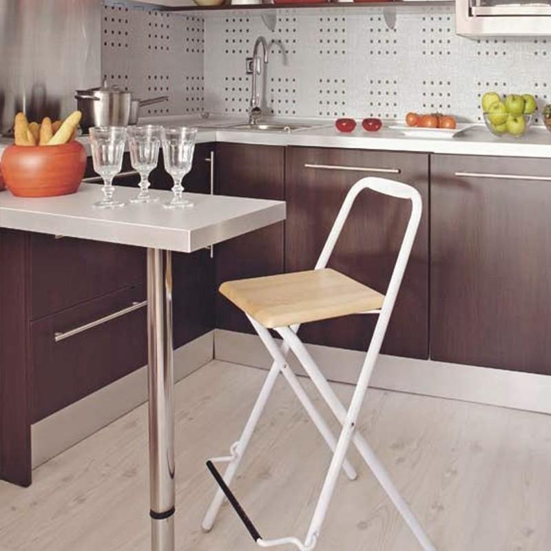 Pata tubular de 83 cm para mesa auxiliar o barra de cocina for Mesa auxiliar para cocina