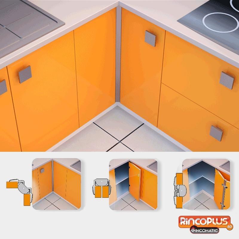 Bisagra de cocina rincoplus40 de rincomatic para mueble rinc n for Bisagra puerta cocina