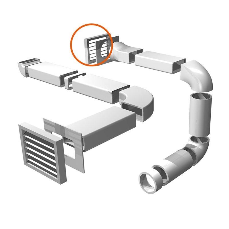 Rejilla de salida de humos de campana para tubo redondo for Tubo extraccion humos campana
