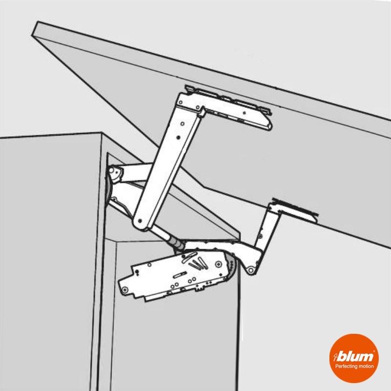 Bisagra aventos hs blum para frentes abatibles de cocina - Bisagras para muebles de cocina ...