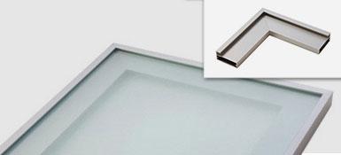 Puerta vitrina con marco de aluminio para mueble de cocina for Perfiles aluminio para muebles