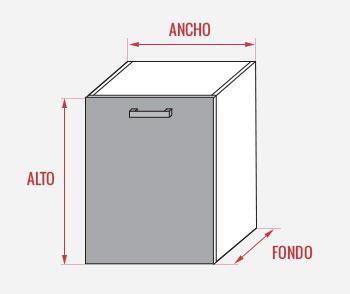 Mueble columna despensero para cocina en kit completo for Muebles cocina 50 cm ancho