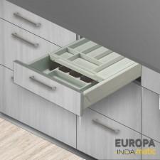 Cajón con Doble Cubertero de PVC Europa para Cocina