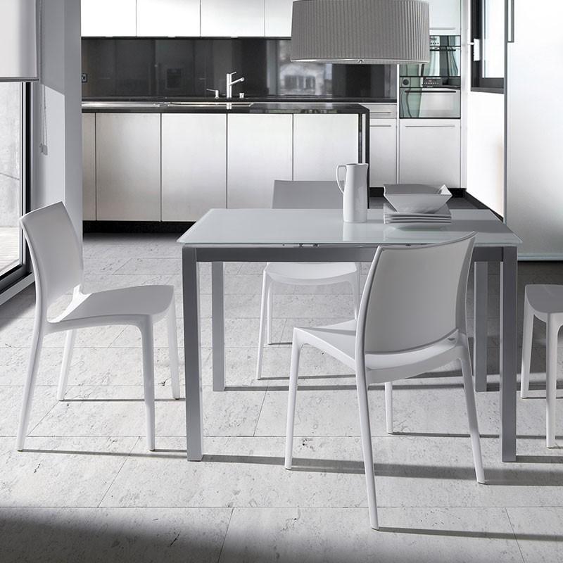 Mesa de Cocina de Cristal de 120 x 80 cm