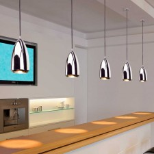 Lámpara Techo Decorativa Halógena GU10 75W Cromo Klauss