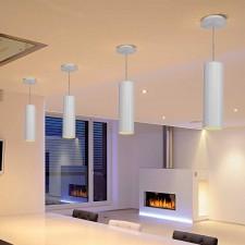 Lámpara Smile Tubular Aluminio Blanco para Techo E27 60W