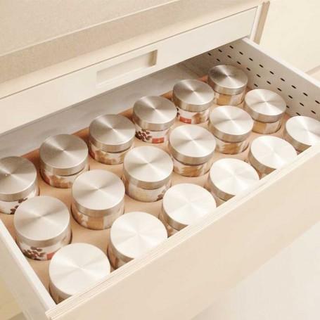 Módulo Portapasta Tarros Cristal-Inox para Cacerolero