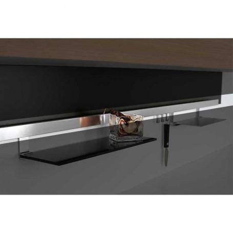 Kit Barra Aluminio Cepillado Titán para Colgar Accesorios de Cocina