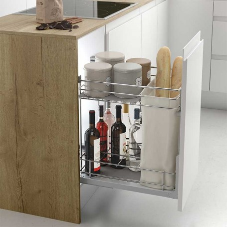 Botellero Panero Extraible de Acero para Cocina 300/400 mm