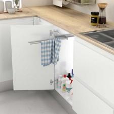 Soporte Extraible de Aluminio para Paños de Cocina