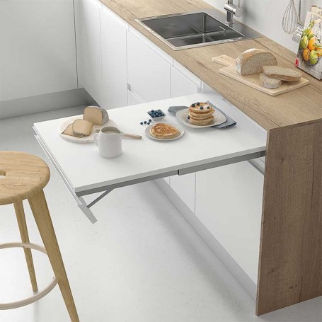 Extraible integrado de frente abatible para mesa de cocina - Mesas de cocina abatibles ...