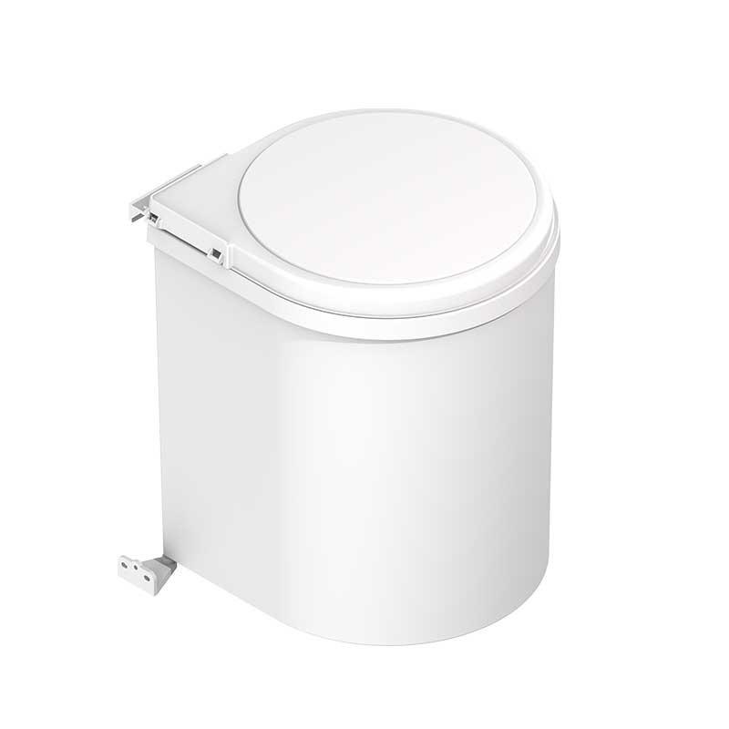 Cubo de basura de 13 l redondo de polipropileno para cocina for Cubos de basura cocina
