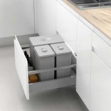 Conjunto Cubos de Basura para Cajón de Cocina 600/800/900 mm