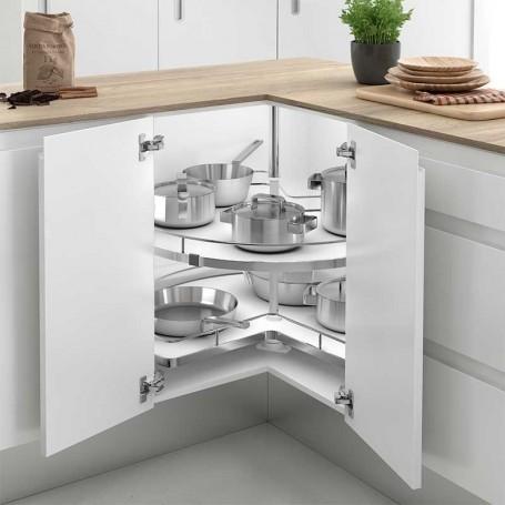 Bandeja 270 extraible giratoria acero melamina para cocina - Bandeja extraible ...