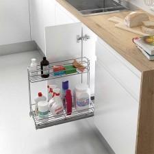 Extraible de Acero para Accesorios de Limpieza en Cocina 300 mm