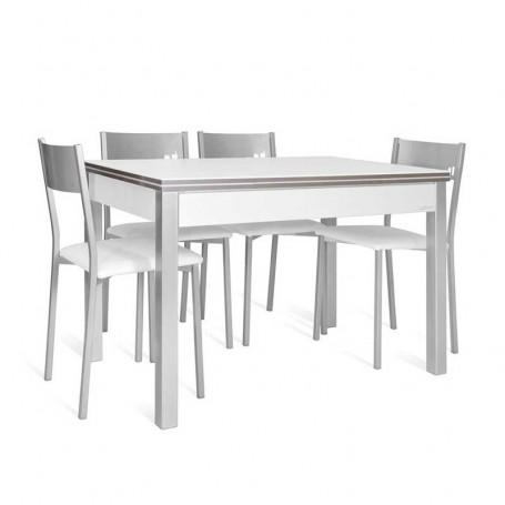 Conjunto mesa de cocina kuking lovy y 4 sillas chip for Conjunto mesa extensible y sillas cocina