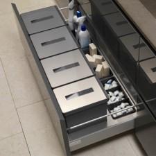 Conjunto de Cubos de Basura de Acero Inoxidable para Cajón