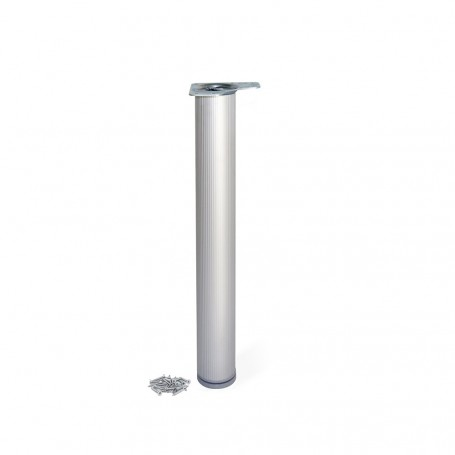 Pata Regulable para Mesa en Aluminio D. 80 mm