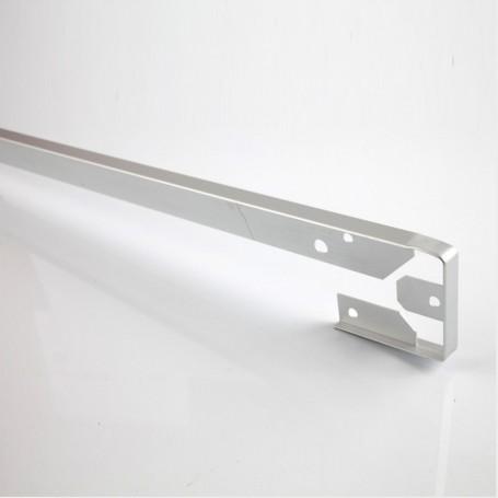 Unión Recta de Aluminio para Encimera Postformada de 4 cm