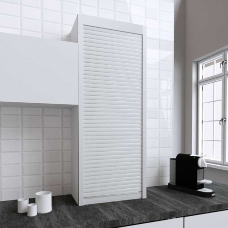 Persiana de 60 x 150 cm de PVC Blanco para Mueble de Cocina