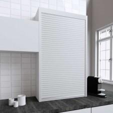 Persiana de 90 x 150 cm de PVC Blanco para Mueble de Cocina
