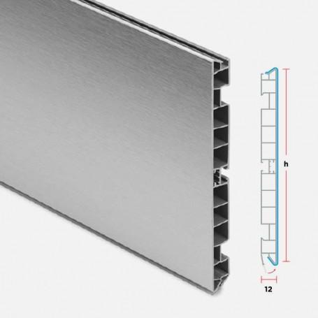 Zócalo de PVC Aluminio Cepillado para Muebles de Cocina