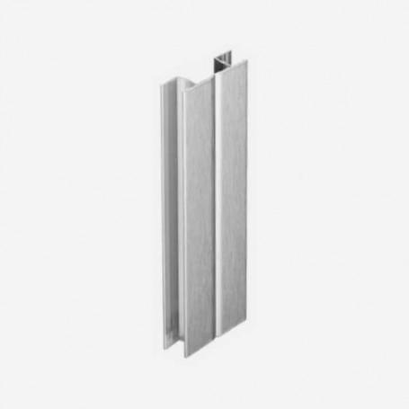 Multi-Ángulo Aluminio Cepillado para Zócalo de PVC de Cocina