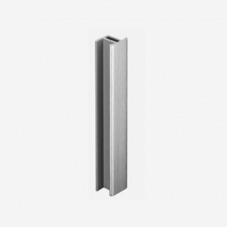 Unión Recta Aluminio Cepillado para Zócalo de PVC de Cocina