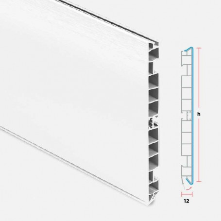 Zócalo de PVC Blanco para Muebles de Cocina