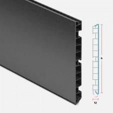 Zócalo de PVC Antracita para Muebles de Cocina