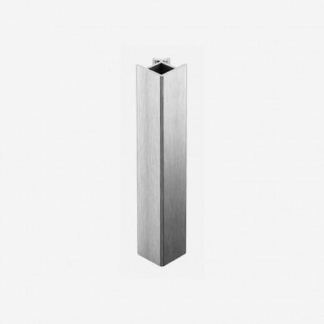 Unión 90º Aluminio Cepillado para Zócalo de PVC de Cocina