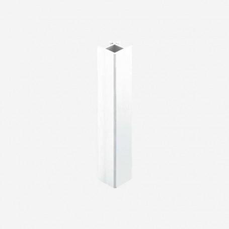 Unión 90º Aluminio Blanco para Zócalo de PVC de Cocina