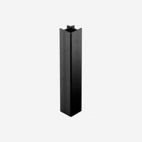Unión 90º Aluminio Negro para Zócalo de PVC de Cocina