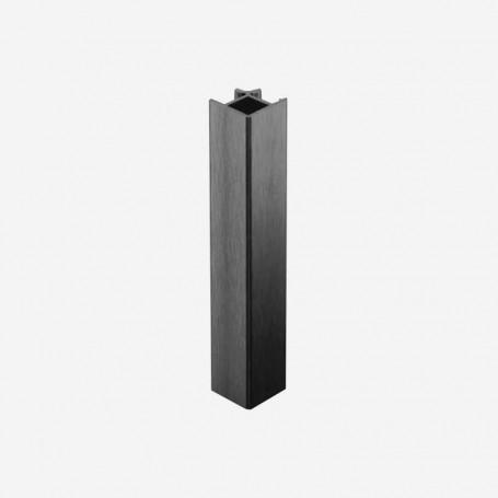 Unión 90º Aluminio Antracita para Zócalo de PVC de Cocina